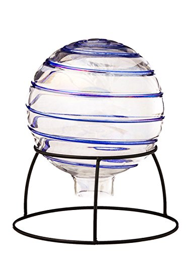 Hand Blown Swirl Table Top Gazing Ball w and ()