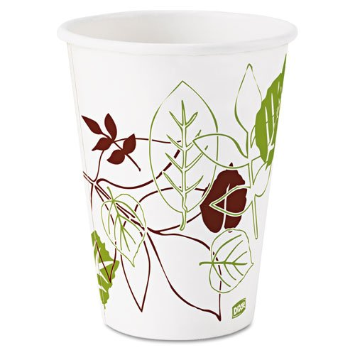 Dixie Pathways Polycoated Paper Cold Cups, 12 oz - Includes 24 packs of 100 each.
