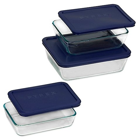 6-Piece Rectangular Bakeware Set Made of durable glass