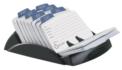 Rolodex Petite Open Tray Card File Holds 250 Cards of 2.25 x 4 Inches, Black (67082) ()