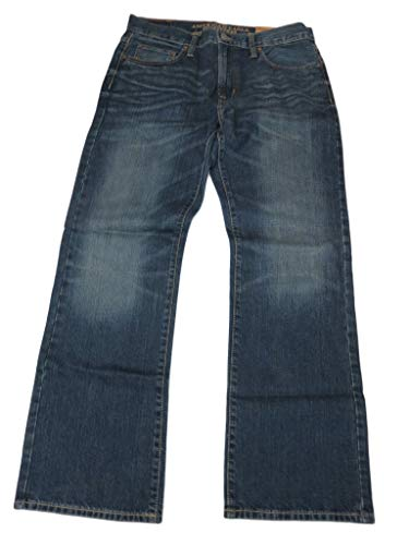 American Eagle Outfitters Men's Classic Bootcut Denim Blue Jeans, 33 x 32