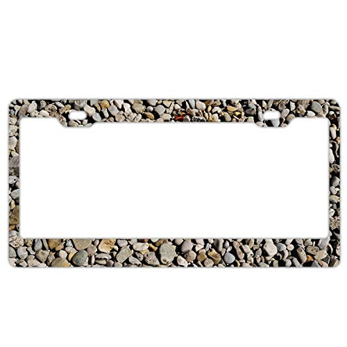 Imtailang Slim Style Polished Alumina License Plate Frame Mirror Finish 2 Holes ()