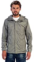 Gioberti Mens Waterproof Front Zip Hooded Rain Jacket