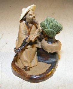Bonsai Boy's Man Trimming Bonsai Tree Ceramic Mud - Bonsai Ceramic Tree Figurine