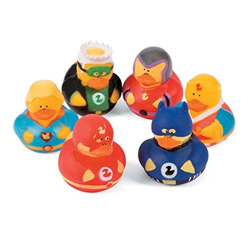 SmileMakers Superhero Rubber Ducks-Prizes and Giveaways-24 per - Ducks Rubber Superhero