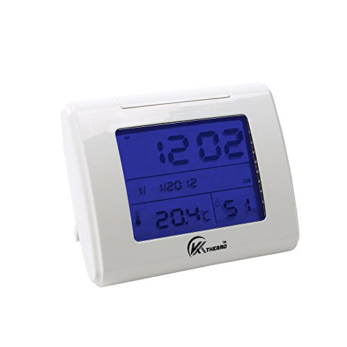 KT THERMO Home Humidity Monitor with LCD Display Alarm Clock Calendar Function