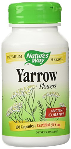 Nature's Way, Yarrow Flowers Dietary Supplement, 100 Capsules