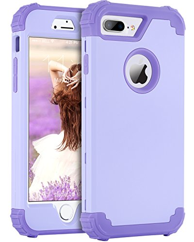 iPhone 8 Plus Case, iPhone 7 Plus Case, BENTOBEN 3 in 1 Hybrid Hard PC Soft Silicone Heavy Duty Rugged Bumper Shockproof Anti Slip Full-Body Protective Case for iPhone 8 - Case Hybrid Hard