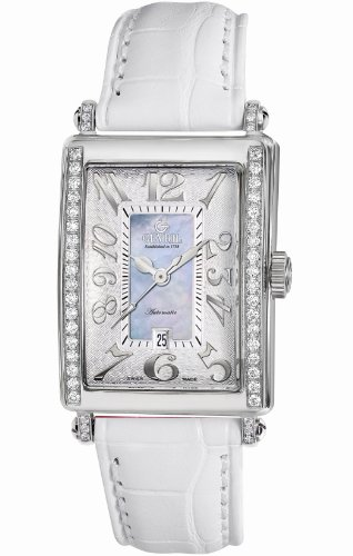 Gevril Women's 6207NE.1 Blue Mother-of-Pearl Genuine Alligator Strap Watch
