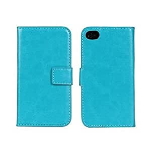 PEACH Crystal Surface Pattern PU Leather Full Body Case with Stand and Card Slot for iphone4/4S (Assorted Colors) , Brown