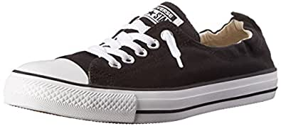 Converse Womens Chuck Taylor All Star Shoreline Low Top Black Size: 5 US