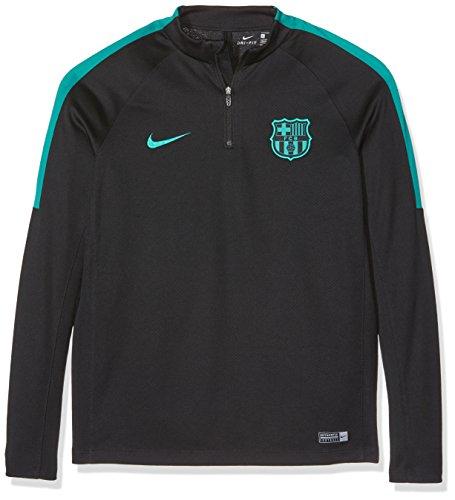 Nike Youth FC Barcelona Drill Top-BLACK (L) (Fc Barcelona Kids Long Sleeve)