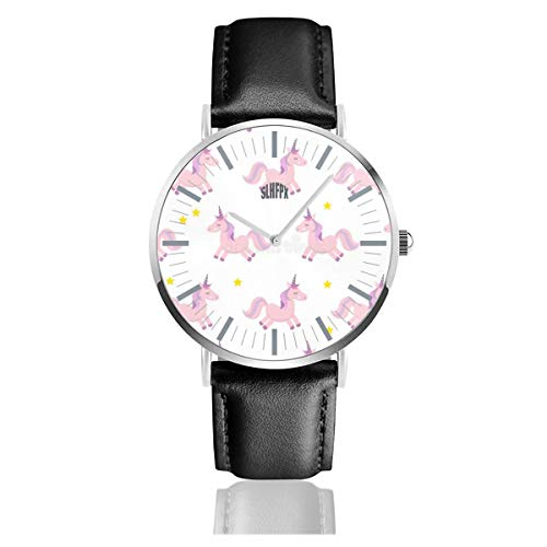 - Mens Watch Unicorns Special Minimalist Stainless Steel Quartz Wrist Watches with Replaceable Leather Band