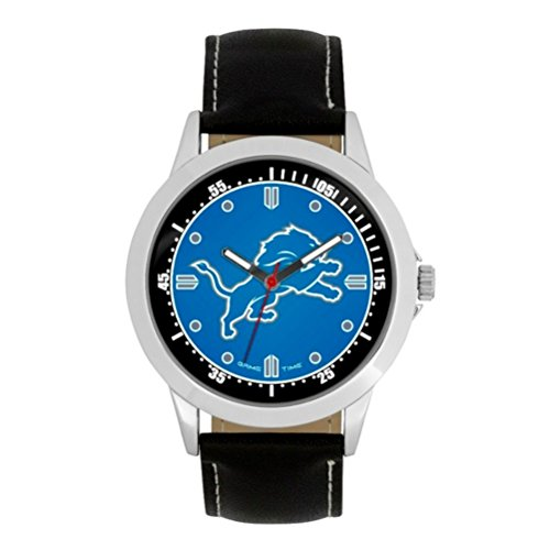 (NFL Detroit Lions Mens Player Series Wrist Watch, Silver, One Size)