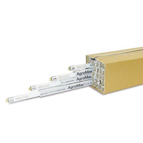 25-Pack AgroMax 4 Foot (45.75'') 5,400K Super Veg T5 Fluorescent Grow Light Bulbs - (25) F54T5HO Bulbs by AgroMax (Image #2)