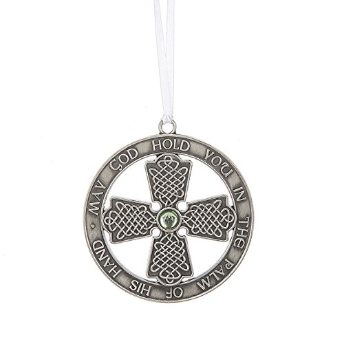 MIDWEST-CBK Old Irish Blessing Celtic Cross 3 Inch Zinc Christmas Ornament Figurine