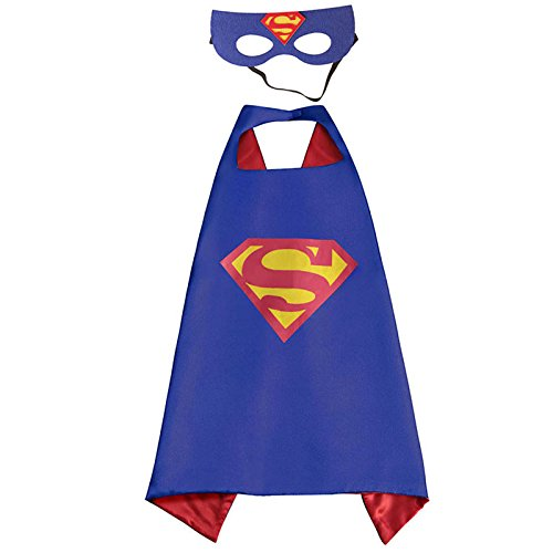 White sugar in summer Christmas Superhero Costume Dress up Kids - Satin Cape Mask