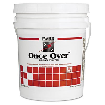 - Franklin Cleaning F200026 Once Over Floor Stripper Mint Scent Liquid 5 gal. Pail