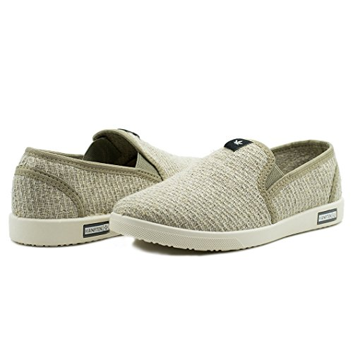 Hemp Shoes Slip-on Hemp Sneakers for Men Natural Non-Dyed Organic Hemp Organic Hemp Shoes (8.5 US Men's) Beige