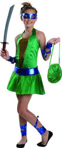 [Teenage Mutant Ninja Turtles Sassy Tween Girl's Leonardo Costume, Medium] (Sassy Ninja Turtle Costumes)