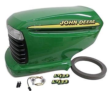 Amazon.com: John Deere LT133 complete hood AM131759 AM132530 ... on