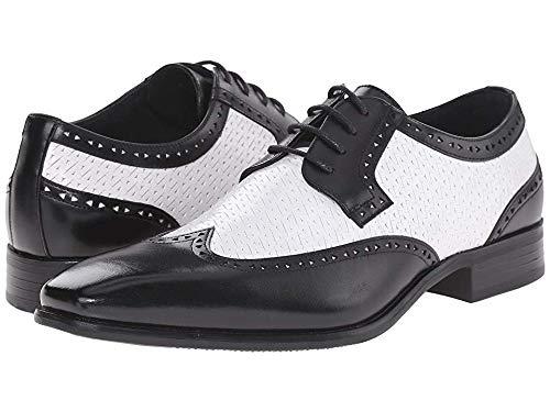 STACY ADAMS Men's Melville Black/White 9 D US