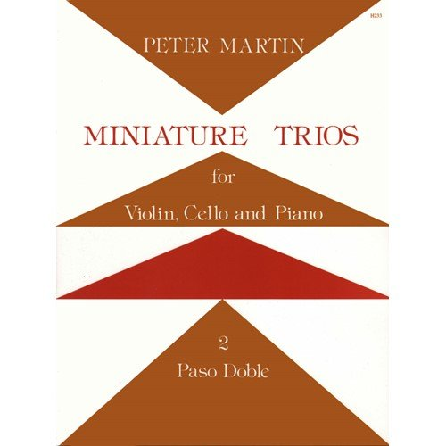 Martin Peter Miniature Piano Trios No 2 Paso Doble. Violin, Cello, and Piano. by Stainer & Bell