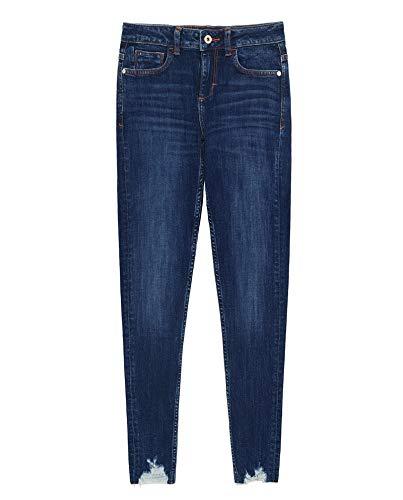 Zara Women Z1975 Frayed Hem Skinny Jeans 8228/021 (36 EU) Blue