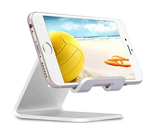 Cell Phone Stand,Lamicall iPhone Stand : Desktop Cradle,Dock for Switch,All Android Smartphone,iPhone 6 6s 7 8 X Plus 5 5s 5c Charging,Universal Accessories Desk - Silver