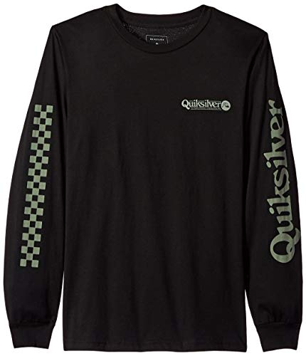 - Quiksilver Boys Check IT Long Sleeve, Black, M/12