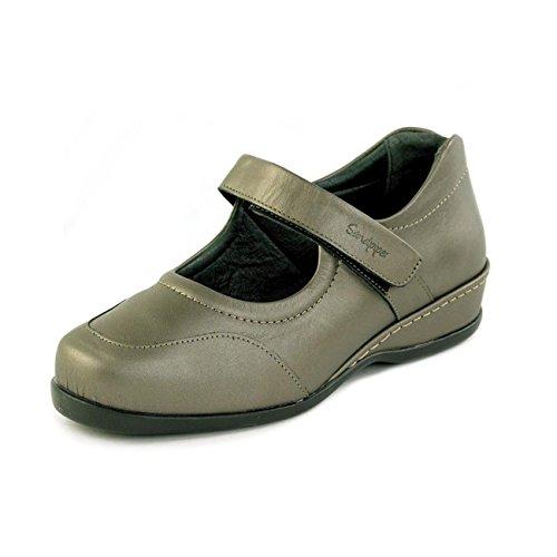 de cordones Piel Sandpiper de Zapatos para gris Otra mujer tqHHaUzw