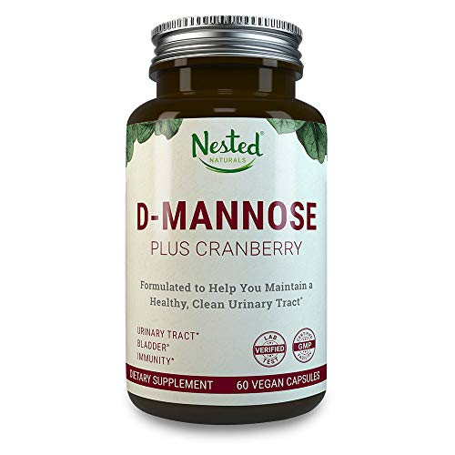 - D-MANNOSE 500 mg | 60 Vegan Capsules with Potent Cranberry Extract | Prevent & Provide Relief for Occasional UTI Infections | Maintain Urinary Tract and Bladder Health | DMannose Pills for Men & Women