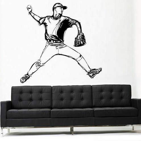 Tomikko Wall Vinyl Sticker Decals Decor Baseball Dorm Bedroom Pitcher Sport Z3110 | Model DCR - 573