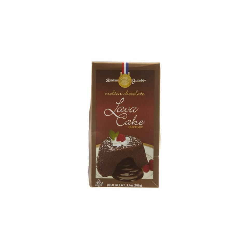Dean Jacobs Chocolate Molten Lava Cake Kit   Volcano Box, 7.5 Ounce Boxes (Pack of 4)