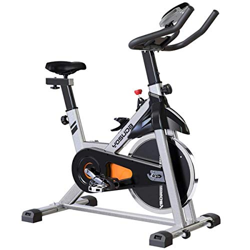 YOSUDA Indoor Cycling Bike Stationary - Cycle Bike with Ipad Mount & Comfortable Seat Cushion (Gray) (Best Stationary Bike Under 300)