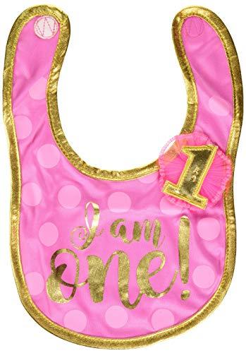 1st Birthday Bib (amscan 1st Birthday Girl Fabric)