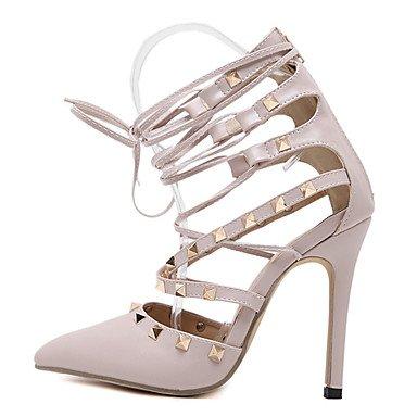 cm à Rivet 12 Chaussures Amande Eté almond Talon LvYuan Noir Femme à Talons ggx Aiguille Polyuréthane 10 xBCOTZw