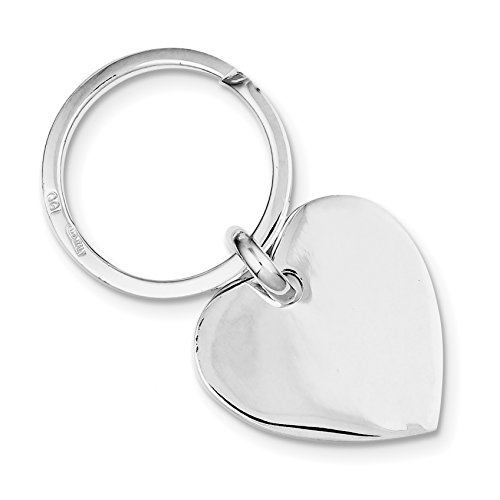 925 Sterling Silver Heart Key Ring by Diamond2Deal