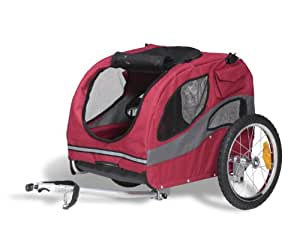 PetSafe Solvit HoundAbout Classic Steel Bicycle Trailer, Medium, Bike Trailer for Dogs, Holds Pets Up To 50 lb.