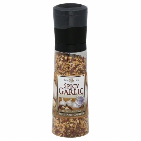 Dean Jacobs Grinder Spicy Garlic 7.4-Ounce (Pack of 6)