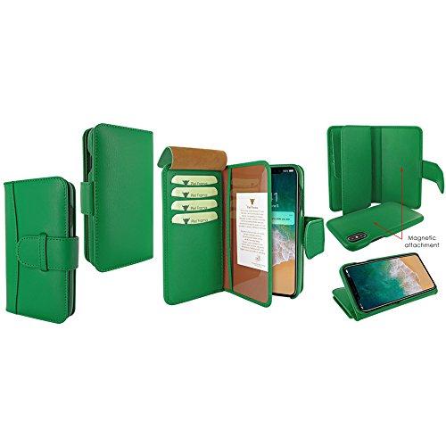 Piel Frama U793DG Case ''WalletMagnum'' for iPhone X - Green by Piel Frama (Image #5)