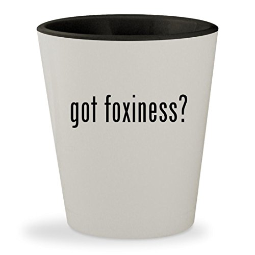 got foxiness? - White Outer & Black Inner Ceramic 1.5oz Shot Glass