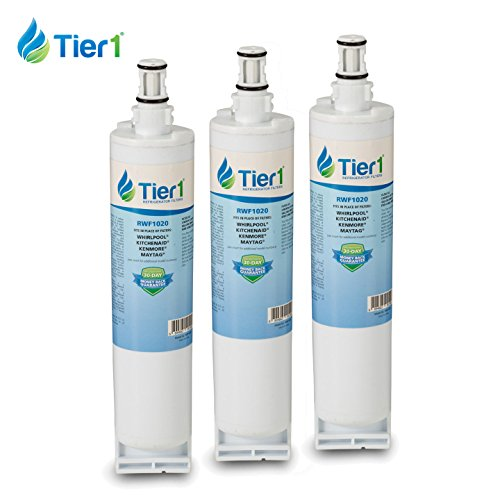 Whirlpool 4396508 EDR5RXD1 4396510 Filter 5 Comparable Refrigerator Water Filter 3 Pack