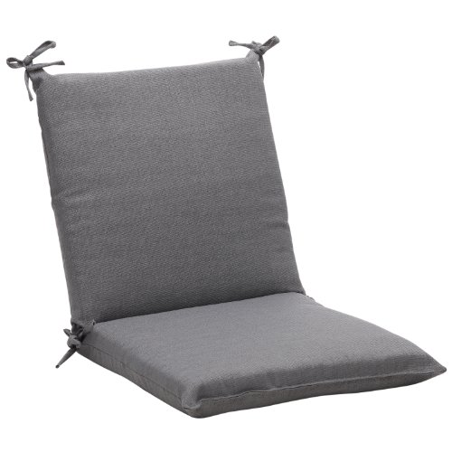 Pillow Perfect Indoor/Outdoor Gray Textured Solid Square Cha