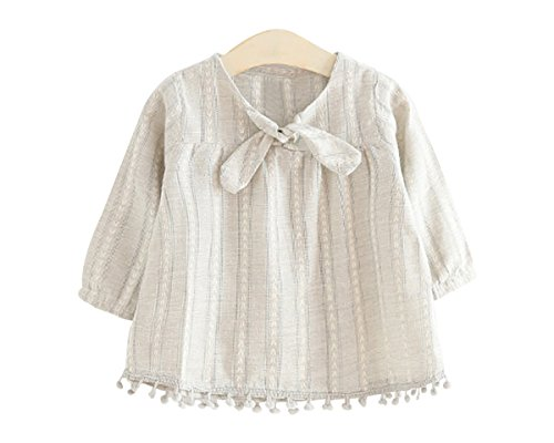 Ozkiz Little Girls Top Blouse Tshirt Toddler Girls Woven Tie Front Top GY 7