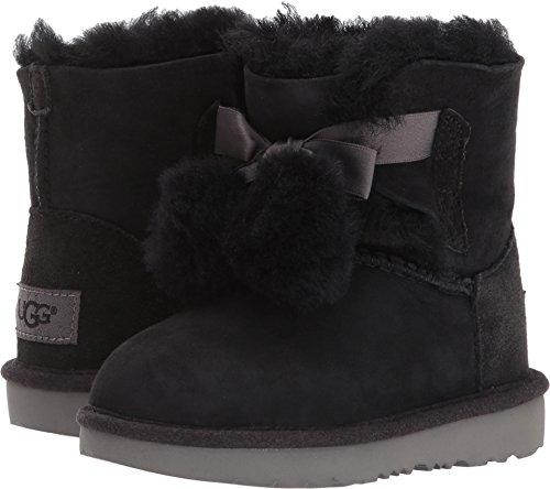 UGG Girls T Gita Pull-on Boot, Black, 11