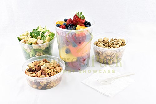 Food Containers with 16 oz Deli Combo Microwaveable Free Home Delicatessen Packaging Pantry