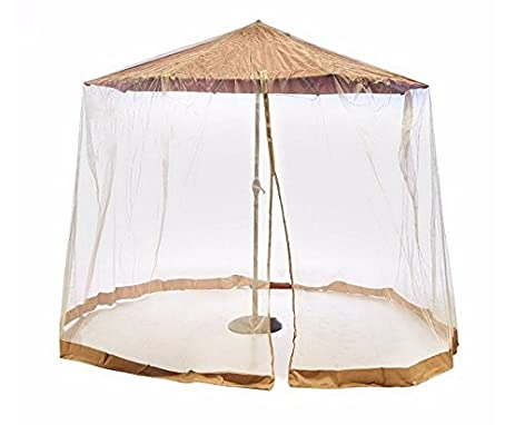 Southern Casual Living Canopy Patio Umbrella Mosquito/Insect Screen U0026  Netting Enclosure With Carrying Bag