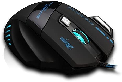 AFUNTA Zelotes Ergonomic 7200 DPI LED Optical Wired Gaming Mouse Mice 7 Buttons Compatible Mac Pro Gamer PC Laptop Desktop Notebook-Black Black(T80) 41 2Bg0c7DLpL