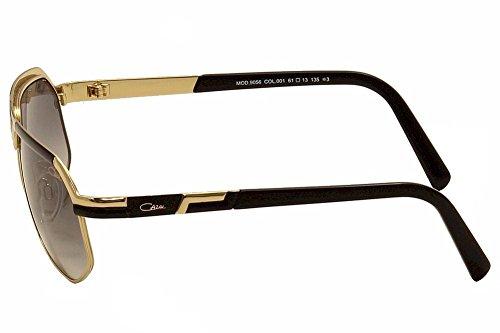 8c8c7940441 Cazal 9056 Sunglasses 001 Black   Gold   Grey Gradient Lens 61mm  UVC